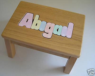Strange Wood Name Personalized Puzzle Step Stool Solid Oak 45 00 Uwap Interior Chair Design Uwaporg