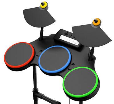 nintendo wii guitar hero 5 band set kit w drums mic guitar video game bundle v ebay. Black Bedroom Furniture Sets. Home Design Ideas