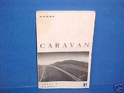 1991 DODGE CARAVAN VAN OWNERS MANUAL SERVICE GUIDE 91