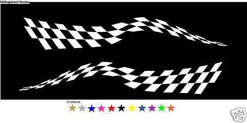 Checkered Flag Decals Boat Truck Trailer Semi RV Race