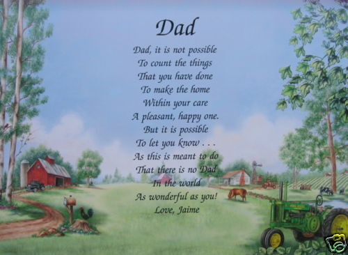 PERSONALIZED DAD POEM BIRTHDAY, CHRISTMAS, FATHERS DAY GIFT IDEAS