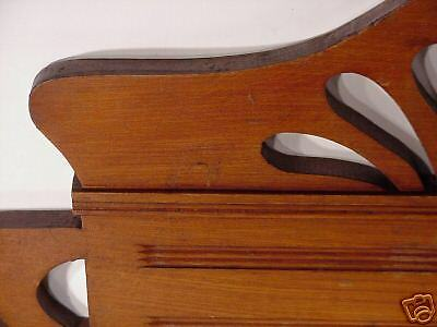 Jugenstil  Arts & Crafts Hand Carved Wood Crown Topper Mantel Molding Antiques 5