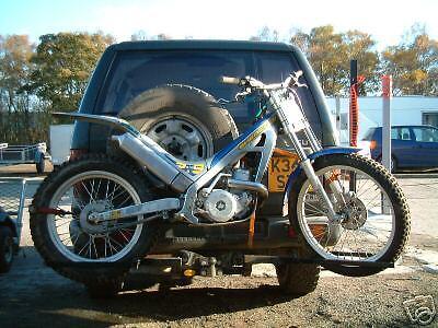 TRIALS MOTORCROSS ENDURO MOTORBIKE CARRY RACK  4X4 / VAN VERSION FITS TO TOWBAR