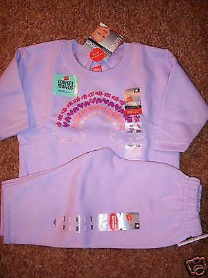 NWT Hanes Premium RAINBOW Jogging Set Suit 6M NEW Lavender B